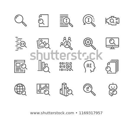 Siyah arama ikon dizayn Internet Stok fotoğraf © blaskorizov