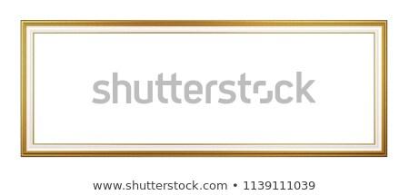 Panoramica vuota cornice isolato classico Foto d'archivio © make