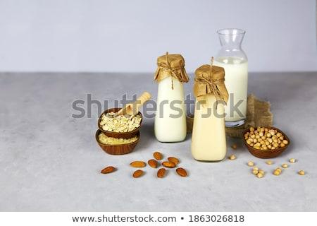 Laktoz ücretsiz pirinç süt gri arka plan Stok fotoğraf © furmanphoto