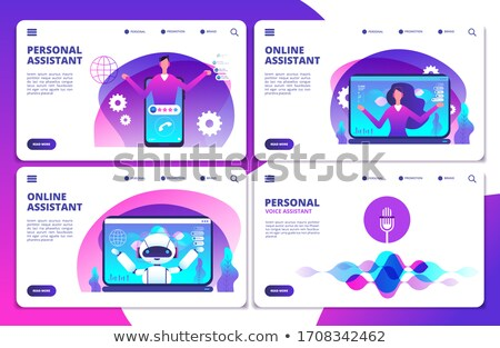Chatbot voice controlled virtual assistantconcept landing page. Stock photo © RAStudio