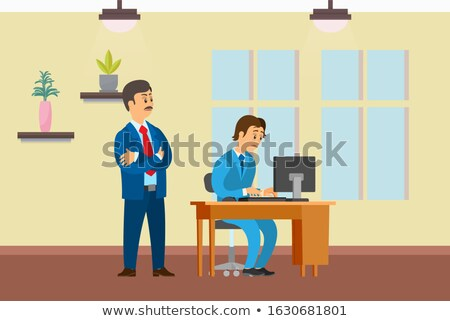 Boss and Worker, Supervisor of Novice at First Job Stock photo © robuart
