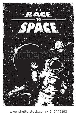 roket · bilim · uzay · vektör · sanat · ay - stok fotoğraf © vector1st