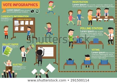 Elnök választás infografika jelölt verseny statisztika Stock fotó © romvo