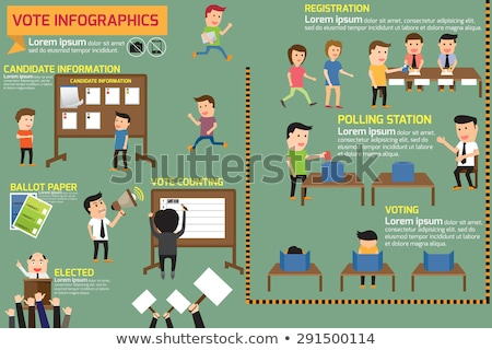 президент выборы Инфографика кандидат конкуренция статистика Сток-фото © romvo