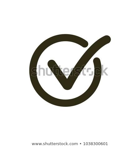 Verificar ícone aprovado símbolo botão Foto stock © kyryloff