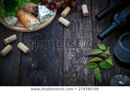 бутылку пусто стекла темно виноград Сток-фото © DenisMArt