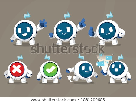 cartoon · robot · illustration · robots - photo stock © izakowski