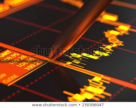 Complex Stock Market Candlestick Chart Stock photo © solarseven