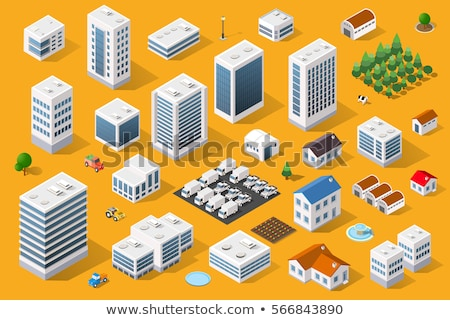 isometric buildings set stock photo © genestro