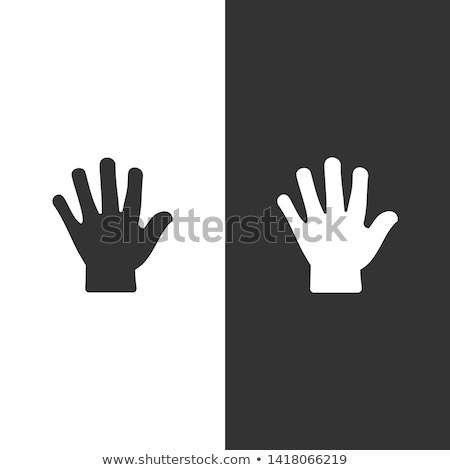 Body senses tact. Hand icon on black and white background Stock photo © Imaagio