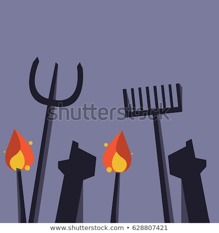 People with torches and pitchforks Stock photo © jossdiim