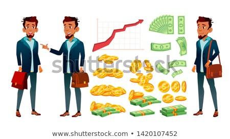 Carácter banquero crecer moneda gráfico vector Foto stock © pikepicture