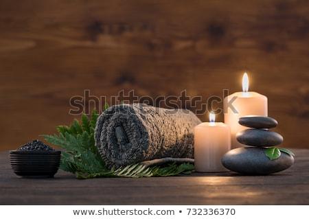 hot stone massage and candle Stock photo © adrenalina