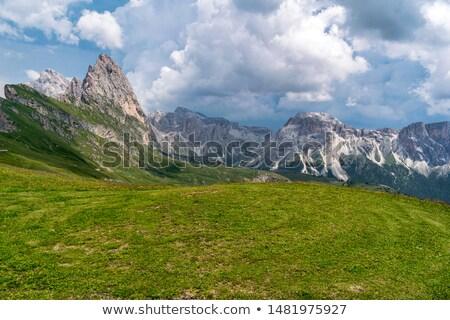Top berg wolken Italië natuur Blauw Stockfoto © frimufilms