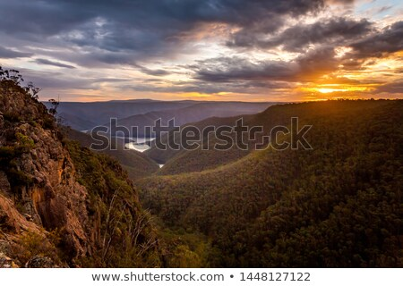 Sunset across the Cumberland Ranges Stock photo © lovleah