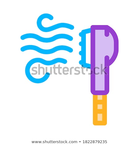 laundry electric steamer brush vector line icon stock photo © pikepicture