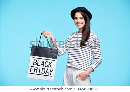 Contemporary cheerful female buyer in stylish casualwear Stock photo © pressmaster