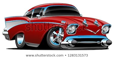 Clásico americano muscle car hot rod Cartoon aislado Foto stock © jeff_hobrath