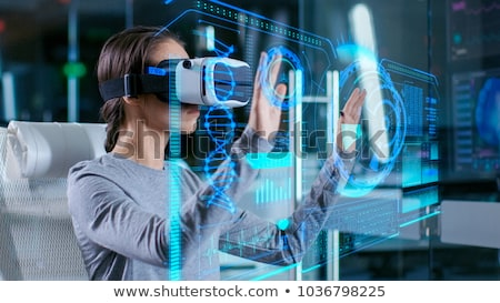 Artificial virtual realidade ciência tecnologia isométrica Foto stock © frimufilms