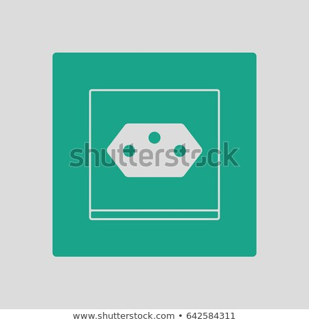 Swiss Electrical Socket Icon Stock photo © angelp