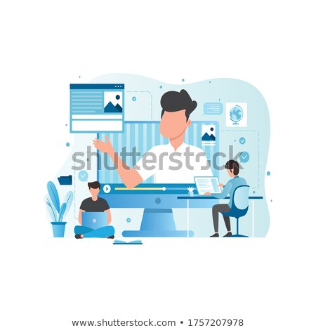 Video Tutorials Woman Learning New Information Stock photo © robuart