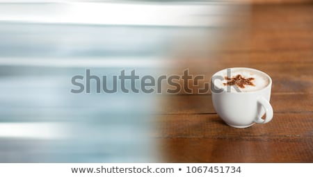 Witte koffiekopje star schuim Blauw Stockfoto © wavebreak_media