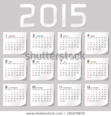 2015 календаря 3d иллюстрации изолированный белый фон Сток-фото © montego