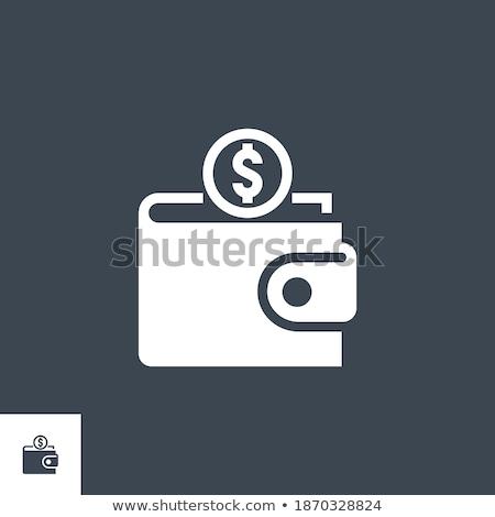 Pénztárca vektor ikon izolált fehér pénz Stock fotó © smoki