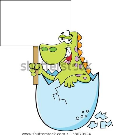 漫画 恐竜 にログイン 実例 幸せ ストックフォト © bennerdesign