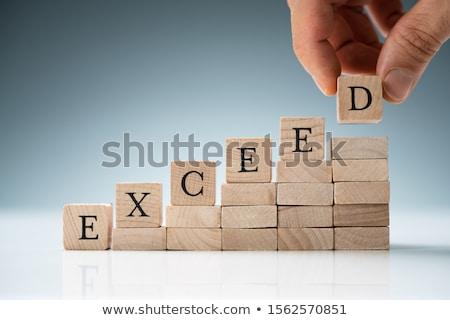 expectativas · negócio · máximo · potencial · metáfora · pequeno - foto stock © andreypopov