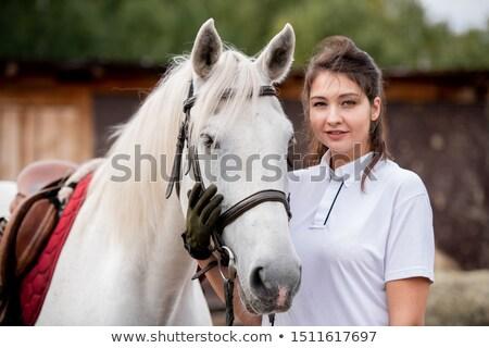 Fiatal nő megérint torkolat fajtiszta természetes környezet Stock fotó © pressmaster