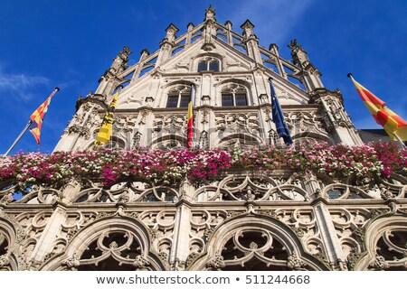 Stadhuis België een drie gebouw huis Stockfoto © borisb17