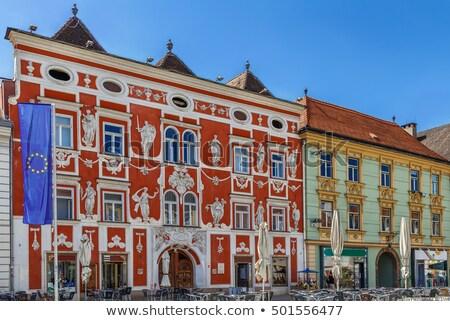 Hoofd- vierkante Oostenrijk zomer reizen stedelijke Stockfoto © borisb17