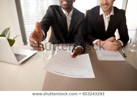 Geslaagd werknemer positie gelukkig werk Stockfoto © Elnur