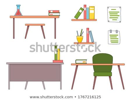 terug · naar · school · klasse · studie · tabel · illustratie - stockfoto © robuart