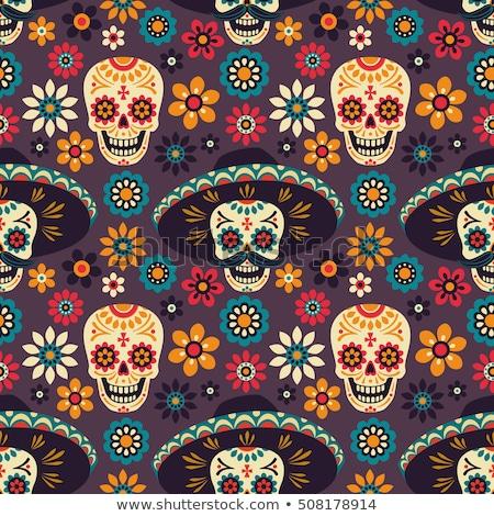 Zdjęcia stock: Funny · mexican · czaszki · cartoon · wzór · dzień