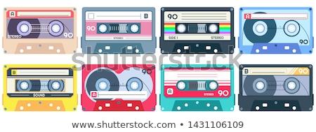 кассету лента прослушивании музыку цвета вектора Сток-фото © pikepicture