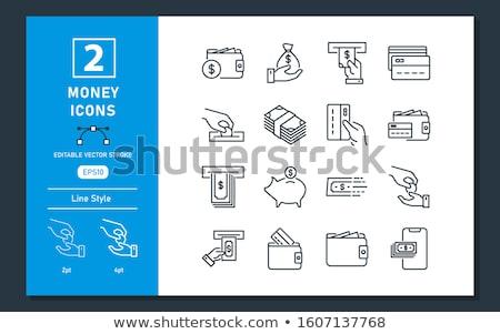Dinero iconos atm efectivo vector imagen Foto stock © Pixel_hunter