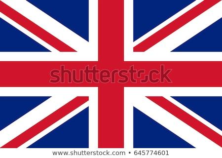 Reino Unido bandeira branco fundo assinar escove Foto stock © butenkow
