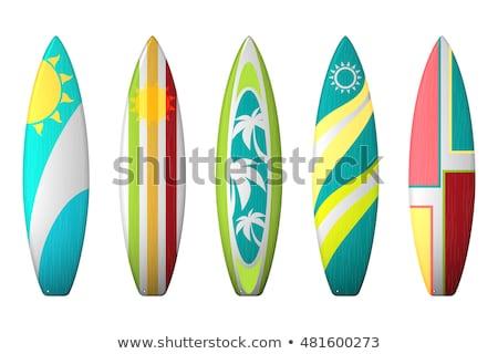 Prancha de surfe diferente ver cor conjunto vetor Foto stock © pikepicture