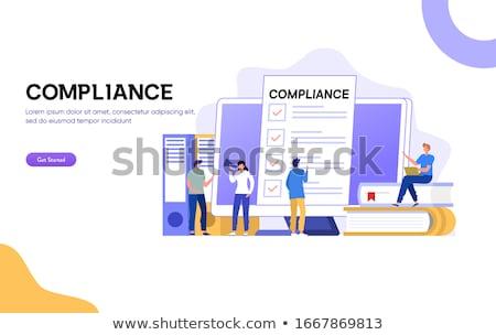 Działalności rządzić lądowanie strona szablon etyka Zdjęcia stock © RAStudio