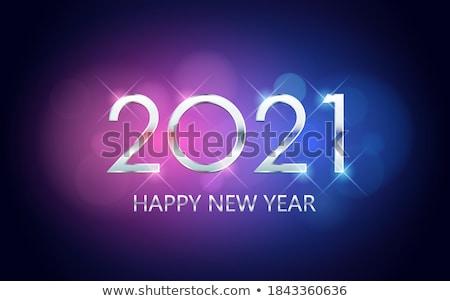 幸せ 新しい 年 紫色 ストックフォト © Voysla