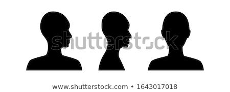 Kék férfi nem emberi alkat női Stock fotó © AndreyPopov