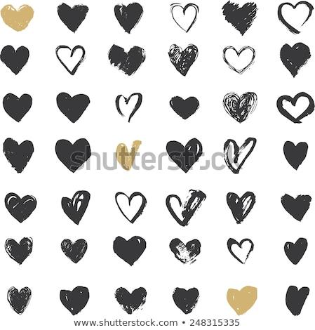 Szeretet kézzel rajzolt illusztráció kéz tart léggömb Stock fotó © barsrsind