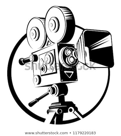 Filmszalag mozi projektor monokróm vektor kopott Stock fotó © pikepicture