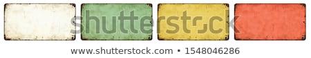 Quatro vazio vintage estanho sinais branco Foto stock © Zerbor