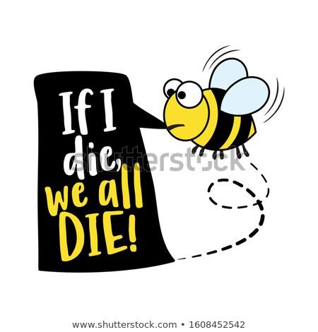 Alarme texto citações abelha desenho Foto stock © Zsuskaa