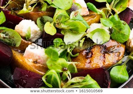 Salata pancar armut marul peynir Stok fotoğraf © joannawnuk