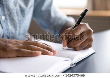 üzletember készít terv személyes szervező közelkép Stock fotó © AndreyPopov