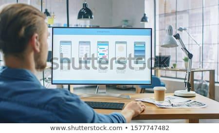 Ui デザイナー スマートフォン オフィス ビジネス 技術 ストックフォト © dolgachov